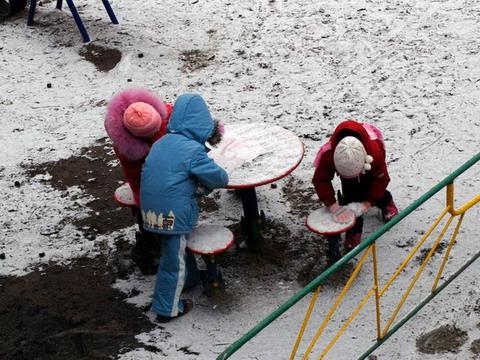 Зимова прогулянка, перший сніг